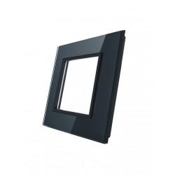 Pojedyncza ramka szklana LIVOLO GPF-1 | Czarny
